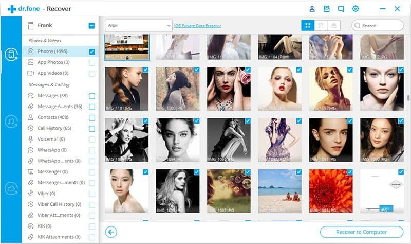 How to Retrieve Deleted Photos on iPhone wth dr.fone