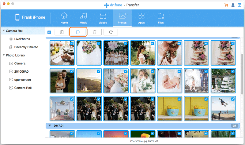 Export Photos from iPhone to Mac