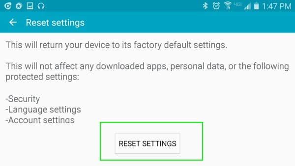 Reset Samsung Galaxy S6/S6 Edge/S7/S7 Edge without Losing Data