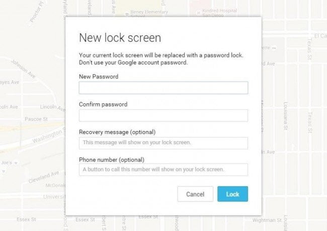 screen lock bypass via android device manager