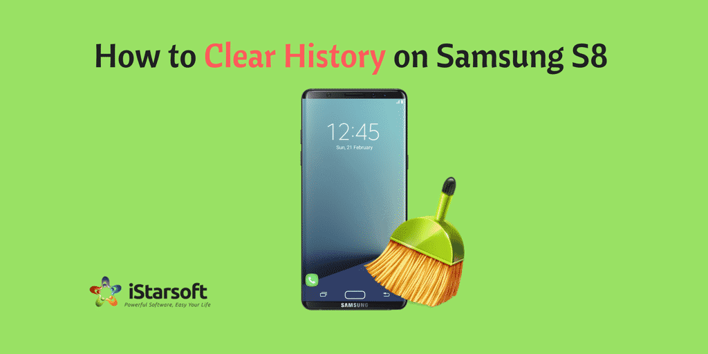 how to clear history on Samsung s8