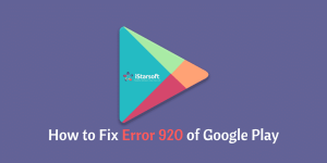 Fix Error 920 in Google Play