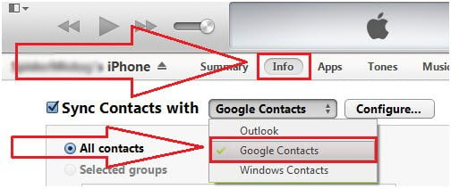How to Sync Contacts from iPhone to Gmail with iTunes