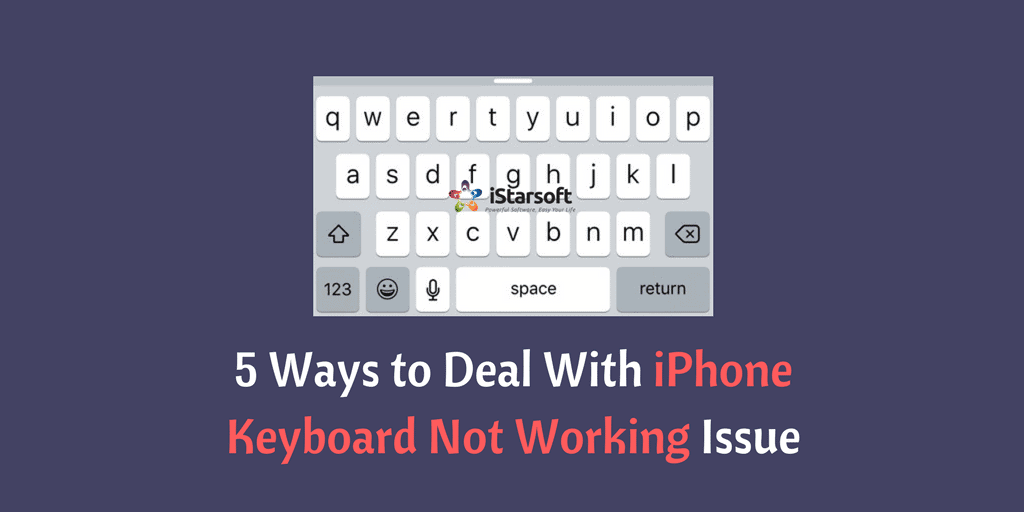 iPhone keyboard not working