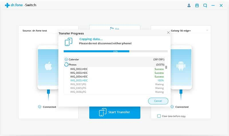 Data transfer from iPad to Android