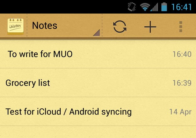 Access iCloud Notes from Android