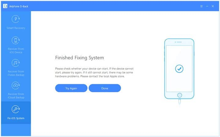 Fix iPhone not ringing Using iMyFone D-Back