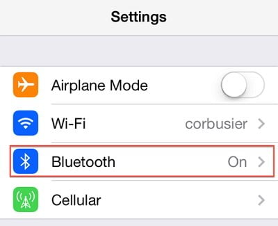 Turn off bluetooth to fix iPhone not ringing