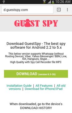 GuestSpy Facebook hack software