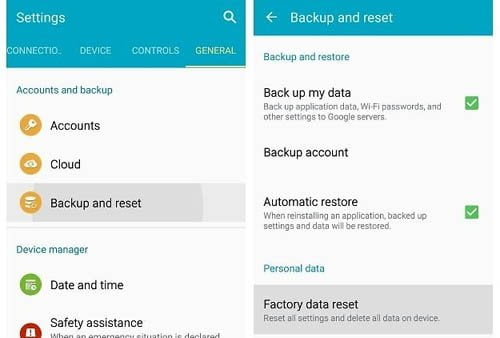 Fix 4504 message not found by Factory Reset
