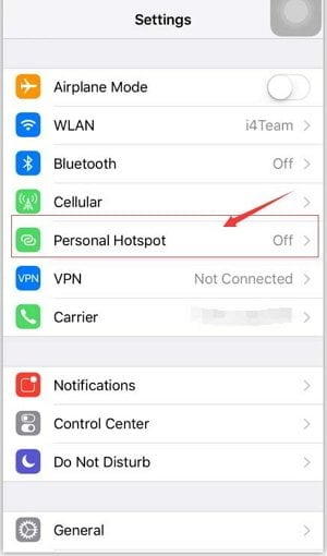 Fix Airdrop not working by Close personal hotspot