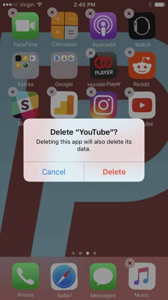 Reinstall Youtube App to fix YouTube not working on iPhone iPad
