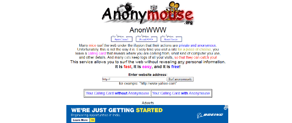 unblocked proxy sites - AnonyMouse
