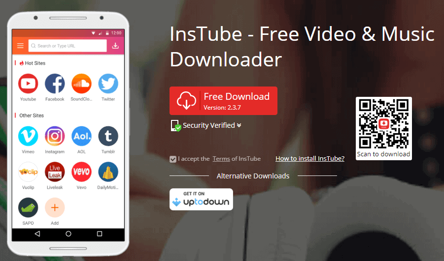 download twitter videos with Instube
