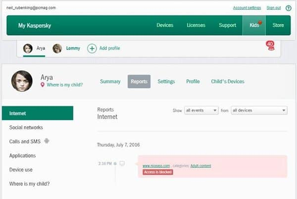 Block Pornography with Kaspersky