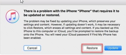 how to bypass iPhone 6 passcode without Siri with Recovery Mode