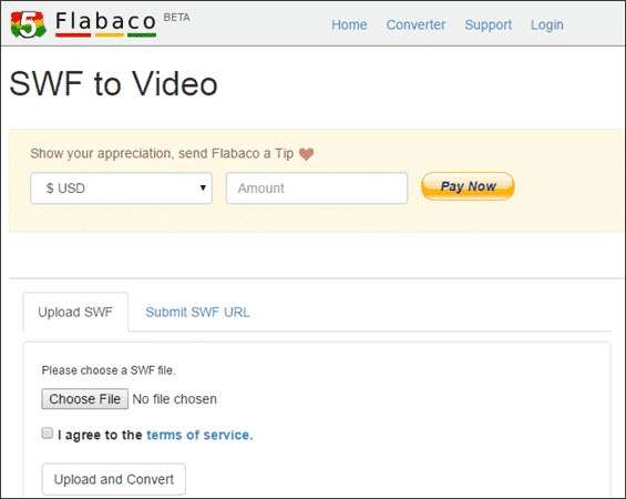 Convert SWF to MP4 with Flabaco SWF to Video Converter