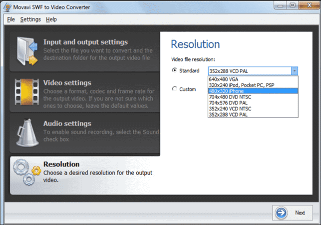 Convert SWF to MP4 with Movavi SWF to Video Converter