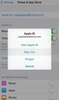 Log out of iCloud and log in once again to fix WhatsApp Backup Not Working