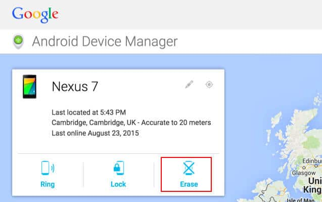 How to Factory Reset LG Phone with Adroid Device Manager