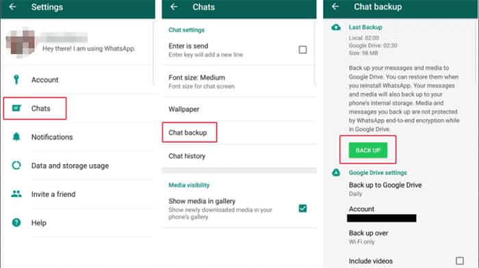 Import WhatsApp Chat from Google Backup
