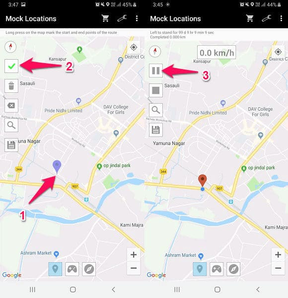 Getting a Fake Location on WhatsApp over the Android system