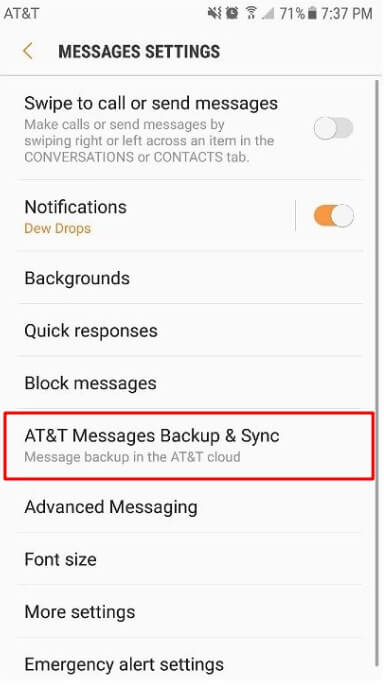 If you are using AT&T