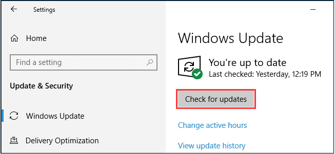 Check for available updates to fix dism error 87