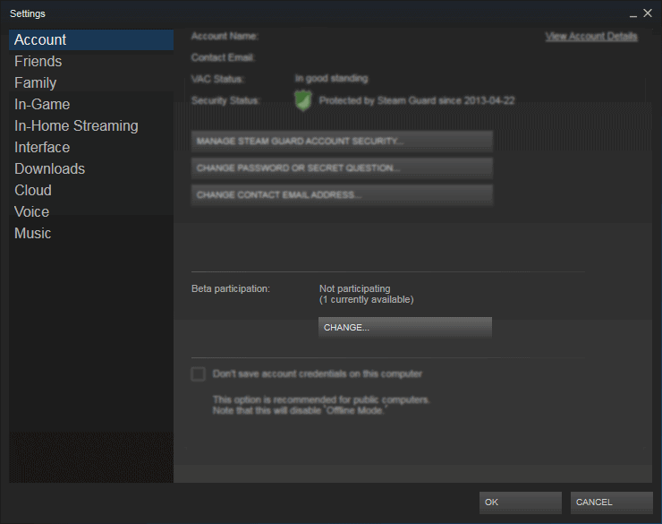 Fixing the issue with Beta Steam Client