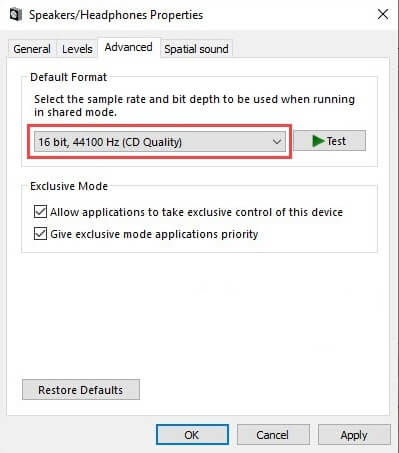 Set similar sample rates for Windows sound driver as well as ASIO driver
