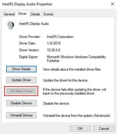 Try uninstalling the system audio drivers to fix Audio Renderer Error on YouTube