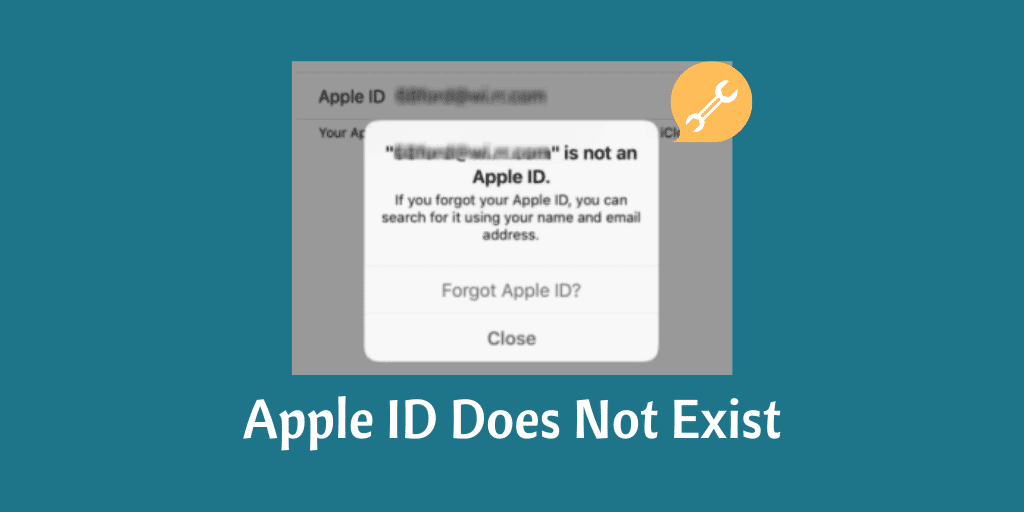 Apple ID Does Not Exist