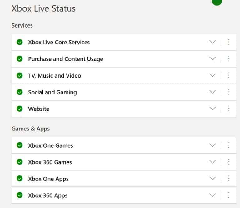 Check if the Xbox Live Server is working
