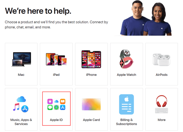 Take assistance from AppleCare customer support