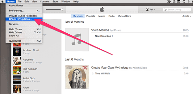 Updating iTunes on a Mac