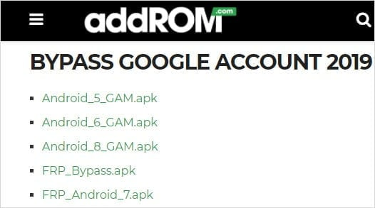 How to use addROM to bypass Google FRP