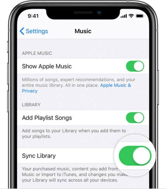 Sign out of features like Apple Music, iTunes, and iCloud