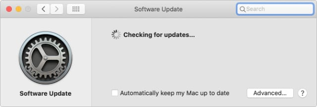 Updating the software on Mac