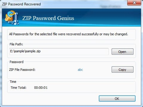 ZIP Password Genius