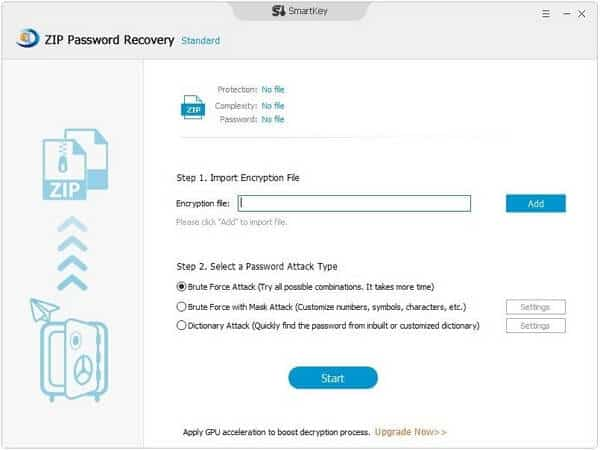 SmartKey ZIP password recovery