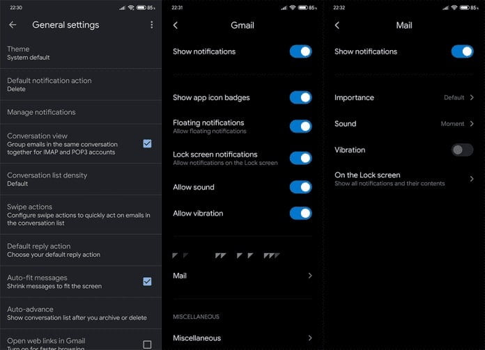 Check if you have disabled in-app notifications and system notifications